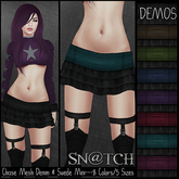 :::Sn@tch Mesh Chase Ruffled Minis-All Colors (XSmall):::
