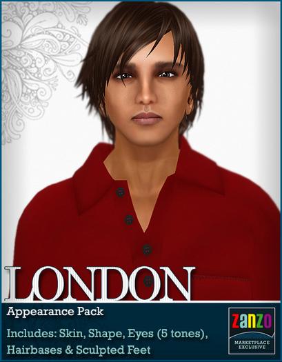 *Zanzo* London Appearance Pack (skin + shape + eyes + more!)