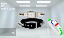 [KRY.moda] ..:FULLPERM:.. 04 KiIIer Studs Mesh Unisex Bracelet Collar