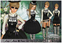 [Wishbox] See Jane - Alice in Wonderland style dress Gothic Lolita EGL Victorian Mad Hatter