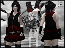 MissAvi Trendy Gothic Hena Full Outfit with Hair