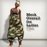 AMERIE - Mesh Overall_Camo