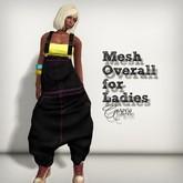 AMERIE - Mesh Overall_Black