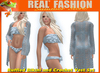 """REAL FASHION"" Ruffled bikini and vest set OCEAN - Mesh"
