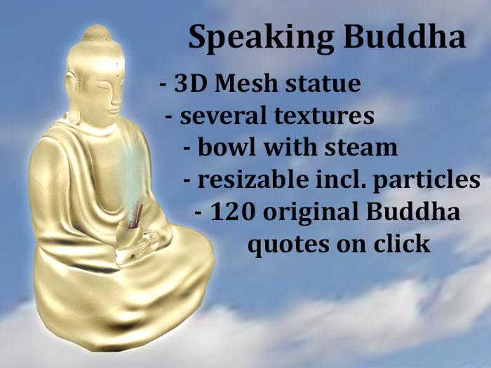 Buddha Speaking Gold
