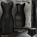De designs corset dress black
