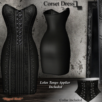 DE Designs - Corset Dress - Black
