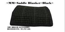 MF Saddle blanket black