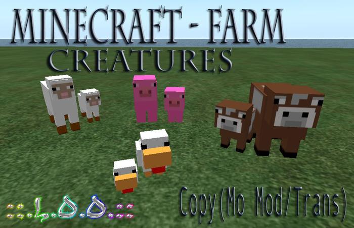 ::.L.O.O.:: - Minecraft Farm Creatures