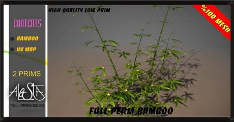 ALESTA << Mesh Bamboo Plant Full Perm