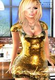 KIM- Sequin Mesh Love Dress-DEMO