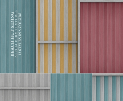 Beach Hut Siding { 60 painted wood textures in 12 styles and 5 colors }
