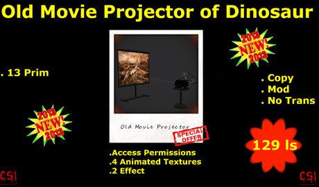Old Movie Projector of Dinosaur (box)
