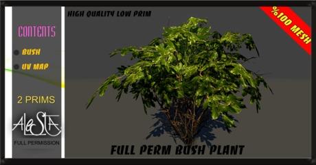 ALESTA << GIFT Mesh Bush Plant 5 Full Perm