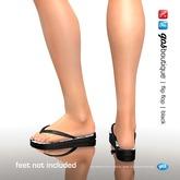 [Gos] Boutique - Flip Flops - Black