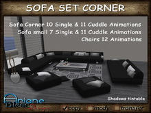 Sofa Set Corner black/grey Living Room Nr.39 Couch,Lounger & Chairs