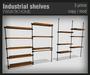 :FANATIK HOME: Industrial shelves - mesh wood shelf with rustic metal detail