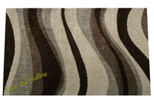 brown and cream waves rug l- NO COPY