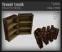 :FANATIK HOME: Vintage travel trunks - mesh travel chest / shelves