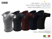 ".:NIAN DESIGN:. ""THE POLO""  MESH FULL PERMISSIONS - T-shirt"