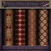 ~TTT~ Nighty's Gold & Red Fabric Textures