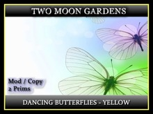 Dancing Butterflies - Yellow* Animated Butterflies - 2 prim