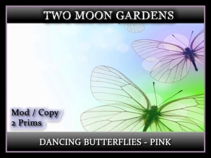 Dancing Butterflies - Pink* Animated Butterflies - 2 prim