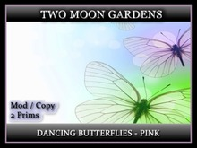 Dancing Butterflies - Pink* Animated Butterflies - 2 prim