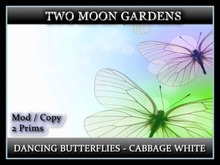 Dancing Butterflies - Cabbage Whites* Animated Butterflies - 2 prim