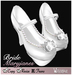 [Wishbox] Roses & Pearls White Mary Janes Heels Maryjanes