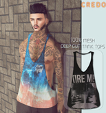 CREDO - {Tire Me} Deep_Cut_TankTop