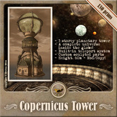 [OO] Copernicus tower - Unique steampunk planetarium tower with a complete universe!