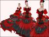 Boudoir -Victorian Ball Gown-Carmine Cotillion