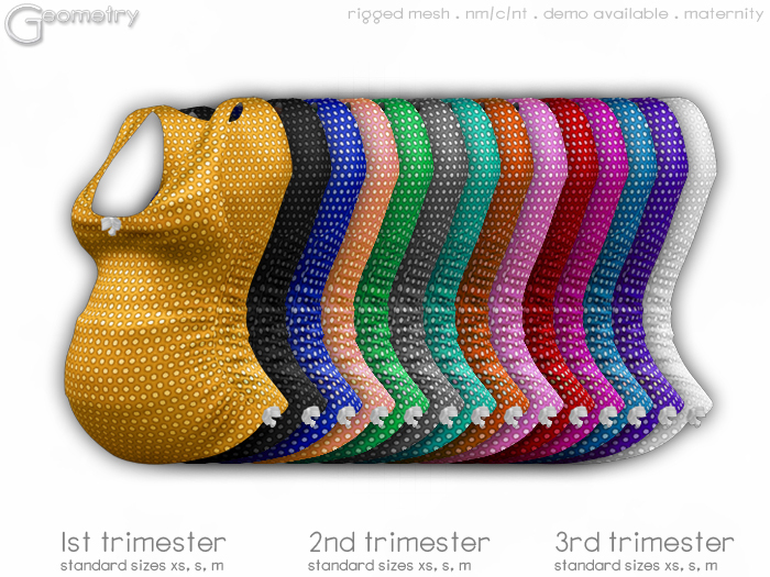 <Geometry> Dotty Maternity Tank > All Colors   (rigged mesh in standard sizes))