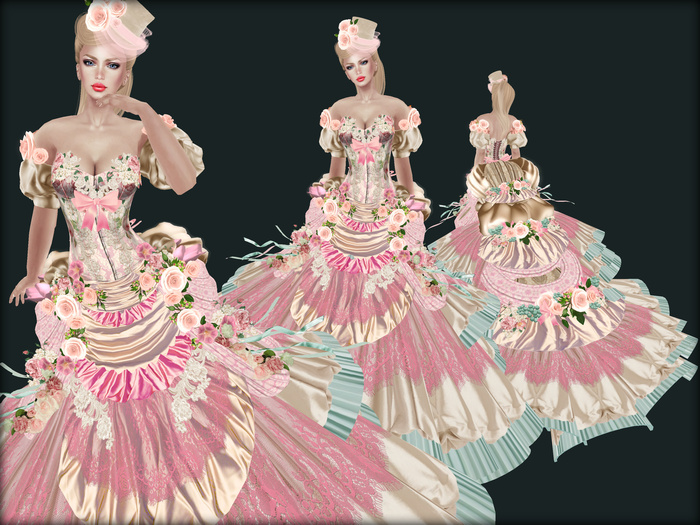 Boudoir -Victorian Ball Gown-Potpourri