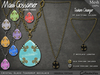 Necklace - Crystal Glass Teardrop