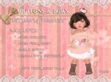 :BB: Butterfly Princess Toddleedoo only