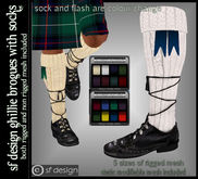 sf design ghillie brogues - kilt shoes with socks - mesh