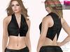 %50WINTERSALE FULL PERM CLASSIC RIGGED MESH Women's Female Ladies Short Mini Closed Front Black Vest Top