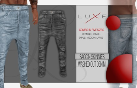 -LUXE- Sagg'n Skinnies - Washed Out Denim