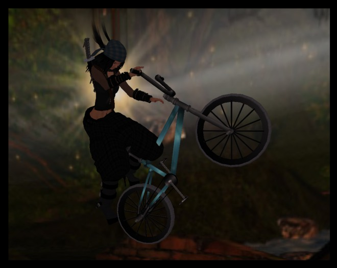 ♡ Ride this Animated BMX Stunt Bike ~ Lot's of Fun !  Simply Wear it to Ride it. Then use the Arrow Keys & Page Up Key.