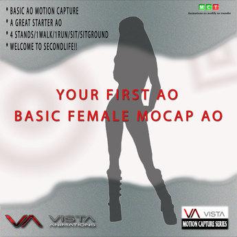 VISTA ANIMATIONS-FEMALE BASIC MOCAP AO