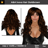 A&A Inova Hair Goldbrown (Special Color). Long curly womens hairstyle. Promo PRICE!