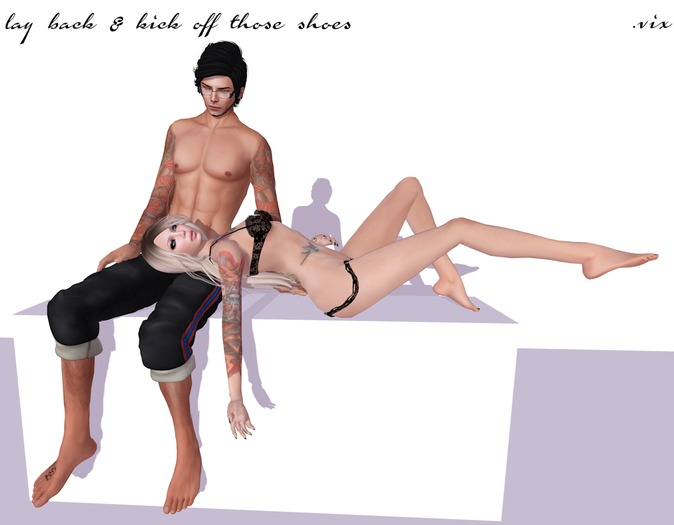 (.vix) lay back & kick off those shoes ~ couple pose
