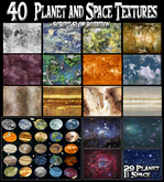 40 Planet and Space Textures / planet textures