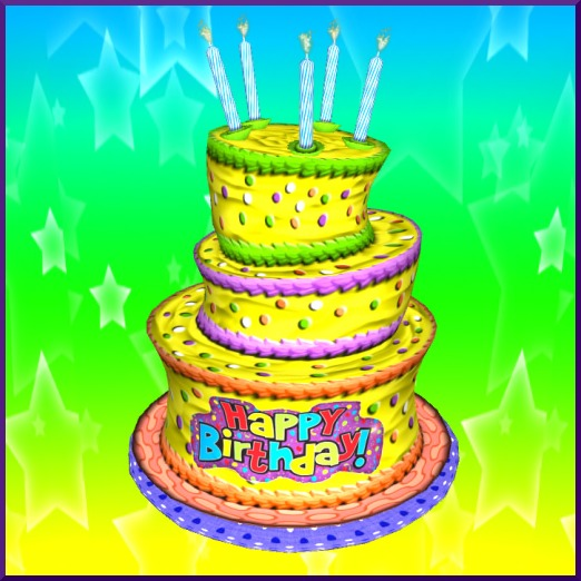 Incredible Second Life Marketplace 3 Tiered Birthday Cake Hat Funny Birthday Cards Online Elaedamsfinfo