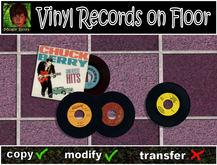 Vinyl Records on Floor