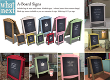 {what next) A-Board Signs - Full Set  (boxed)