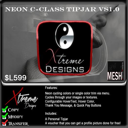 Neon Mesh C-Class TipPic TipJar - Starter Kit -