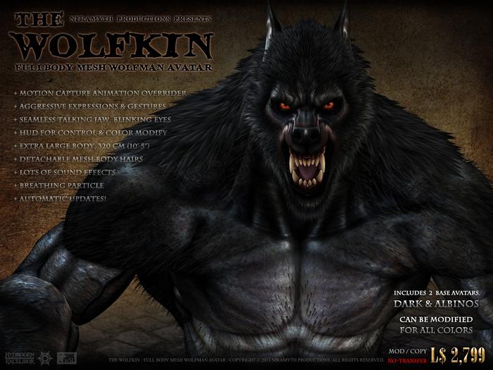 """The Wolfkin"" Full-Body Mesh Wolfman Avatar"